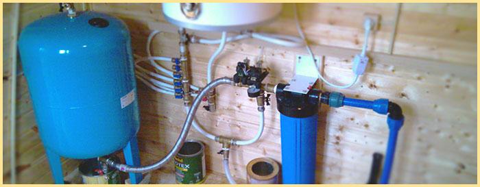 Насосная станция с гдироаккумулятором в доме