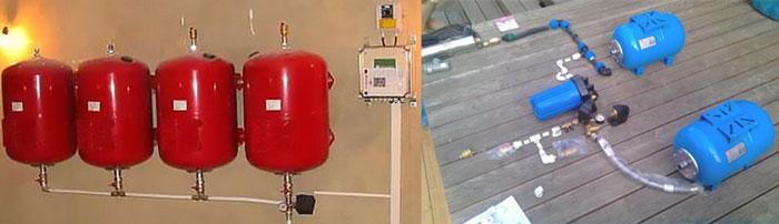 Подключение 2 и более гидроаккумуляторов к насосам