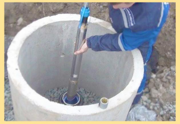 Опускание глубинного ансоса в скважину
