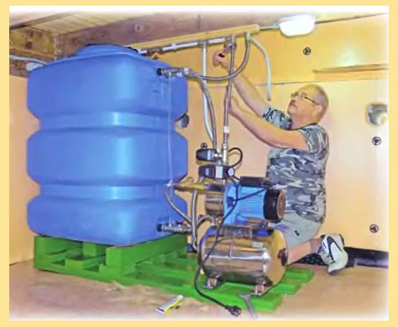 Подключение накопительного бака к станции водоснабжения