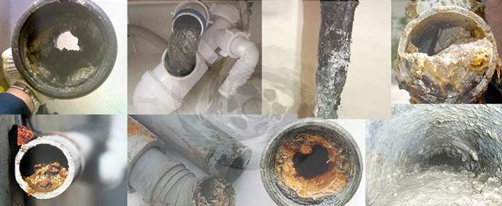 Виды канализационных засоров