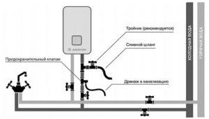 Схема для нагревателя воды накопительного типа