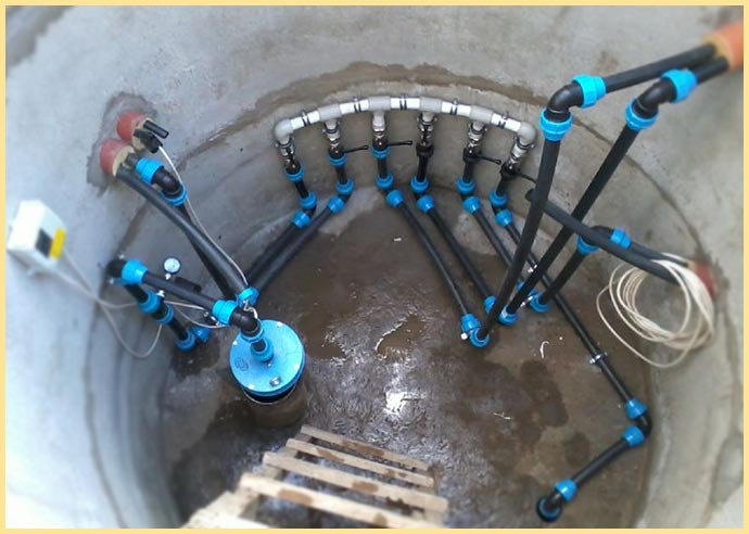 Устройство глубинного насоса в скважине