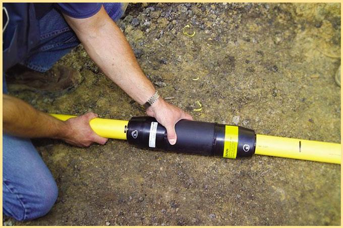 Прокладка ПНД труб в грунте