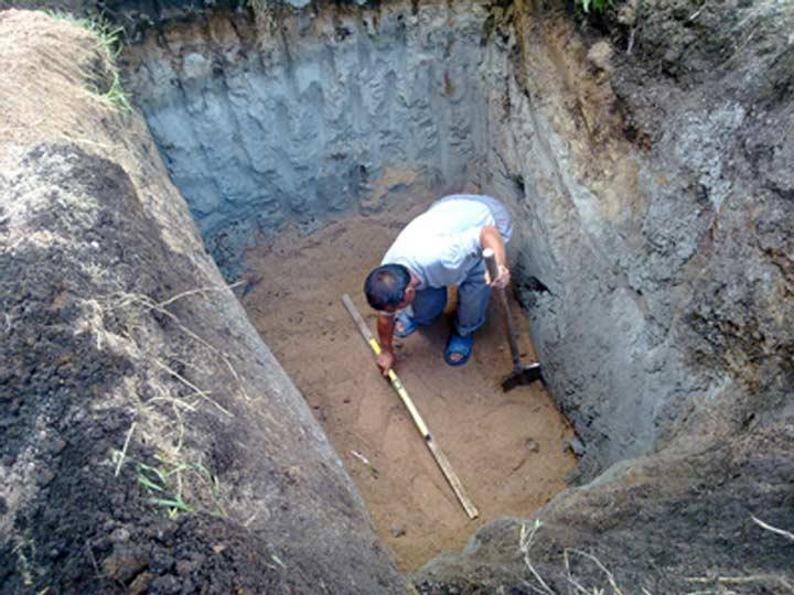 Подготовка к установке канализации