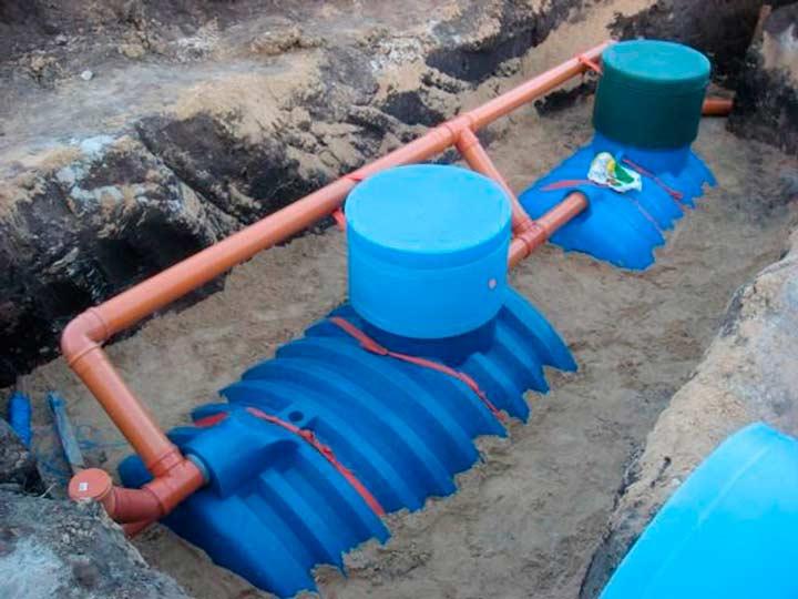 Накопительная и очистительная канализация