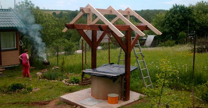 Строим колодец на даче