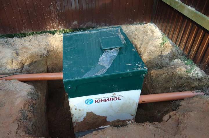 Астра 5 с принудительным отводом очищенной воды
