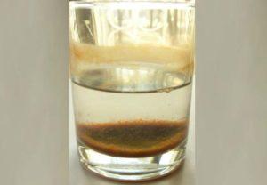 Осадок в стакане