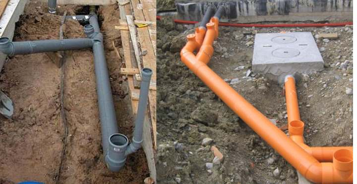 Расстояние канализационной трубы от стены