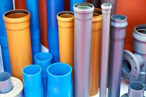 Различные трубы для внешней канализации