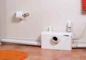 Насос для туалета не превышает по габаритам