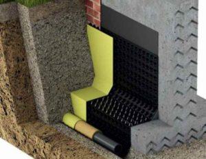 Глубина дренажа зависит от глубины фундамента дома, а также от глубины промерзания грунта зимой.