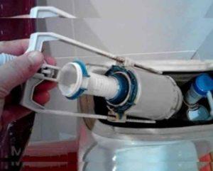уменьшение отверстия для входа воды