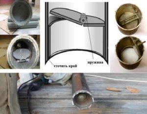 Между стенами скважинного ствола и внешней стороны желонки должен оставаться зазор