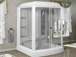Паровая баня возможна лишь в кабинке с закрытой конструкцией