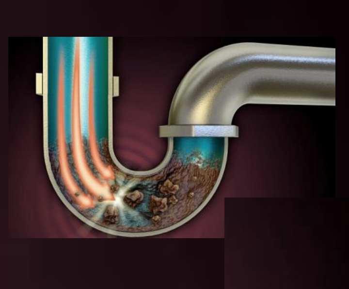 Лучший эффект будет достигнут при вливании сначала кипятка в трубу
