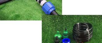 Для полива применяют трубы, имеющие диаметр минимум двадцать пять миллиметров