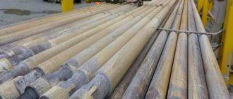 эксплуатационной колонны, которая предназначена для разработок, имеет длину от устья до дна