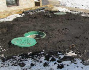 2.наполнить яму очищенной жидкостью.